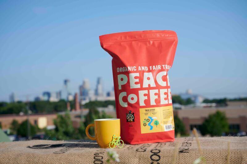5 lb bag of fair trade dark roast coffee