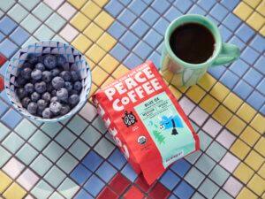 the best medium roast coffee mug with blueberries