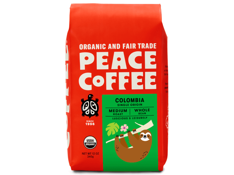 12 oz bag of organic Colombian coffee beans