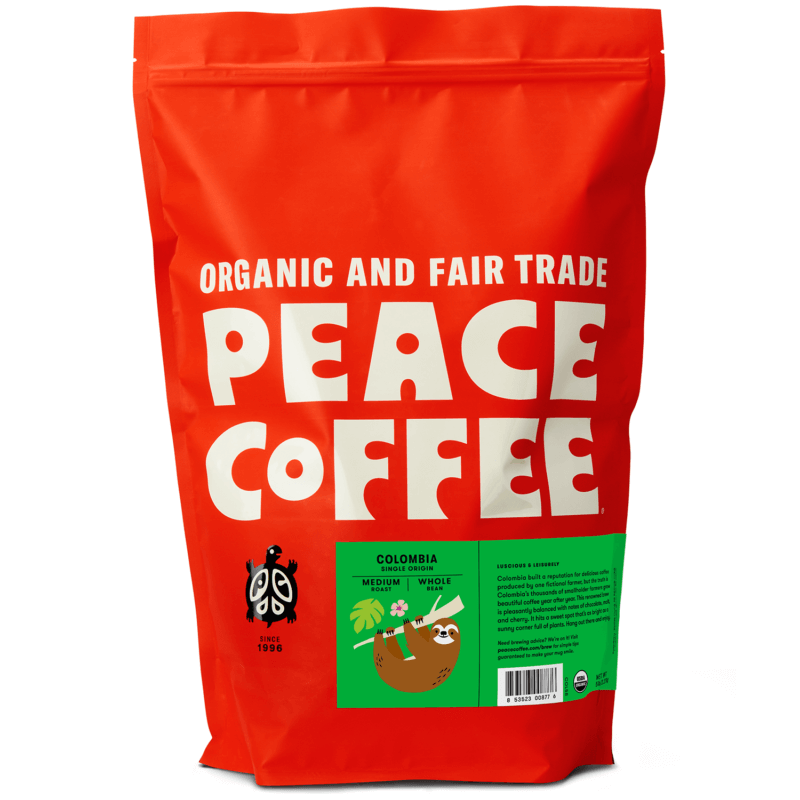 5 lb bag of organic Colombian coffee beans