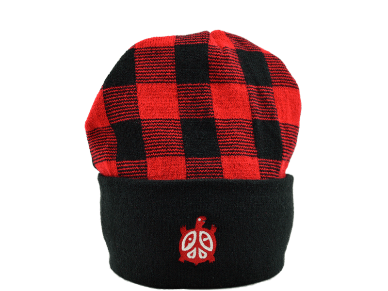 Plaid Stocking Cap Stand Up View
