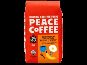 bag of organic medium roast coffee
