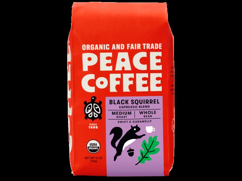 bag of organic espresso beans