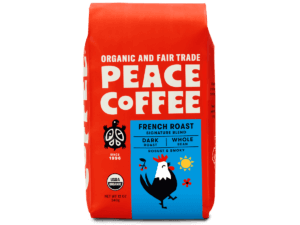 bag of organic french roast coffee