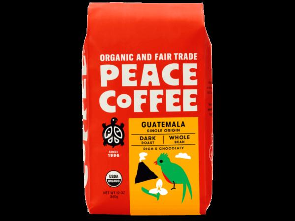 guatemala dark roast organic coffee bag