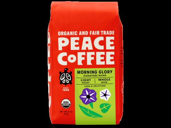 bag of fair trade light roast coffee