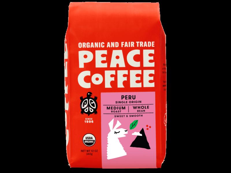 bag of organic peruvian coffee