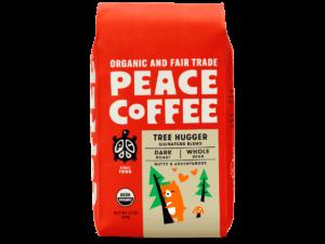 bag of organic dark roast coffee