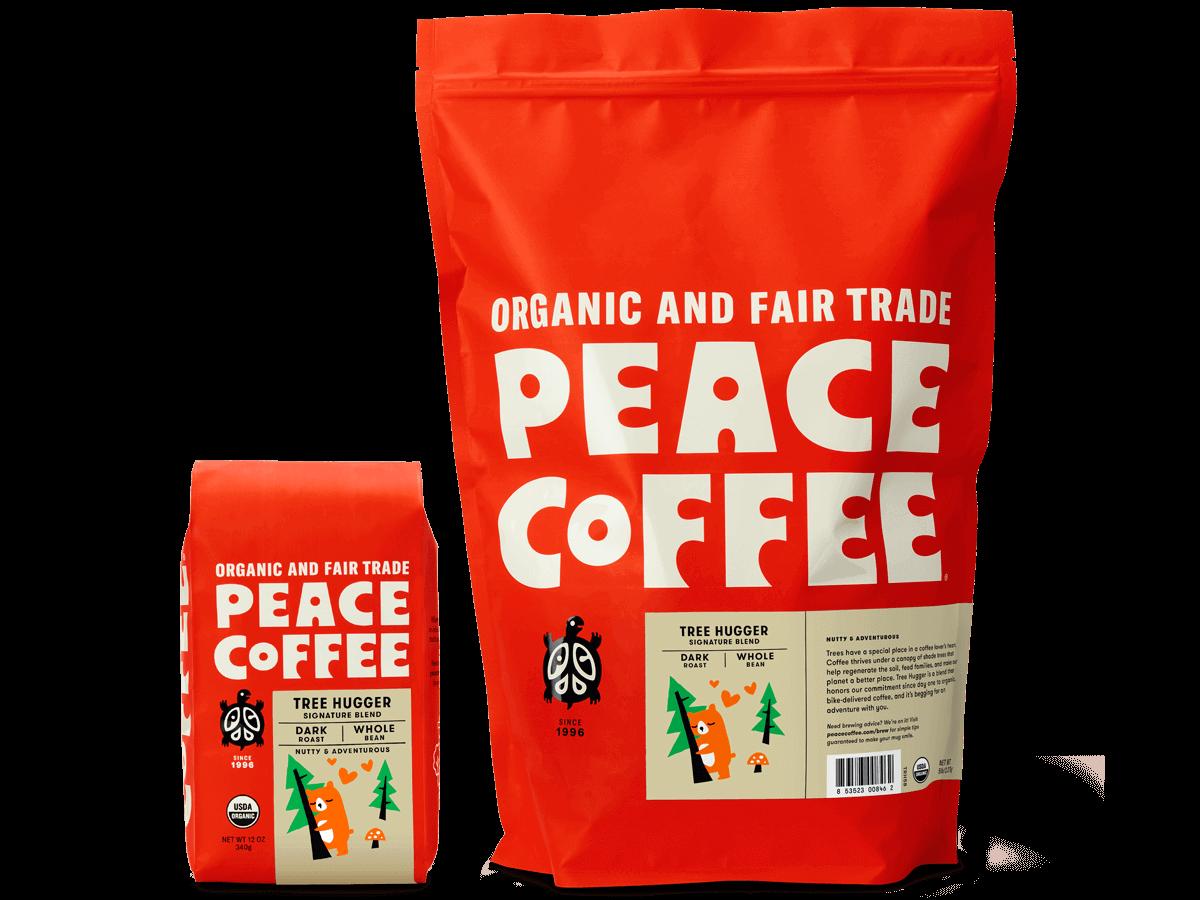 Organic Dark Roast Coffee   Buy Peace Coffee Online