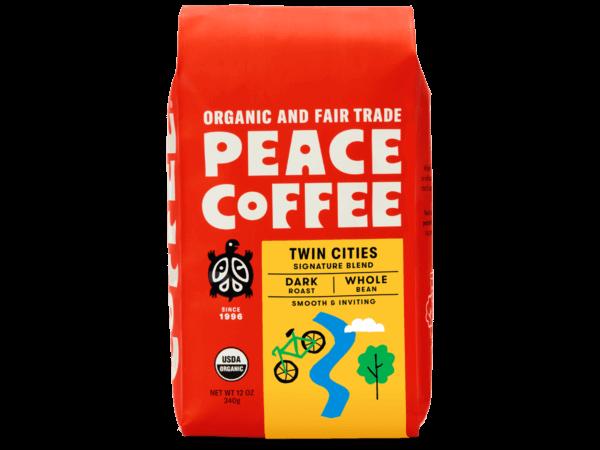 bag of fair trade dark roast coffee