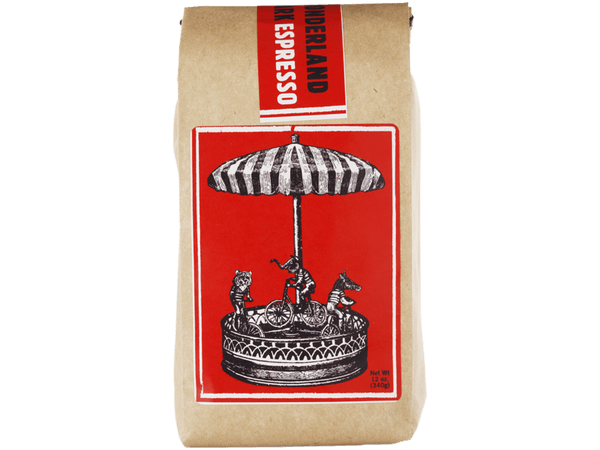 Wonderland Park Light Roast Organic espresso bag