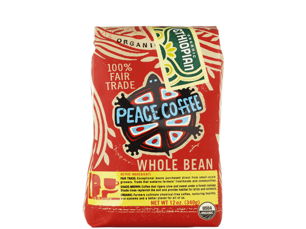 light roast organic coffee bag